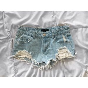 jean shorts forever 21